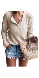 Waffle Knit Tunic Top
