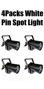 4Pack White Pin Spot Lights