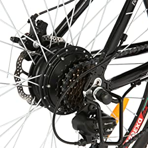 Speedrid Bicicleta eléctrica ebike electrica 26/20 Ebike ebike montaña para Bicicleta con Motor sin escobillas 250 W Batería de Litio 36 V 8 Ah Shimano Velocidad 21/7: Amazon.es: Deportes y aire libre
