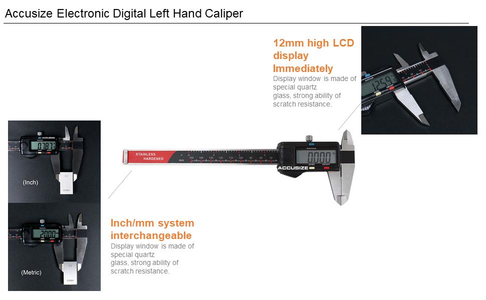 Left Hand Caliper Features
