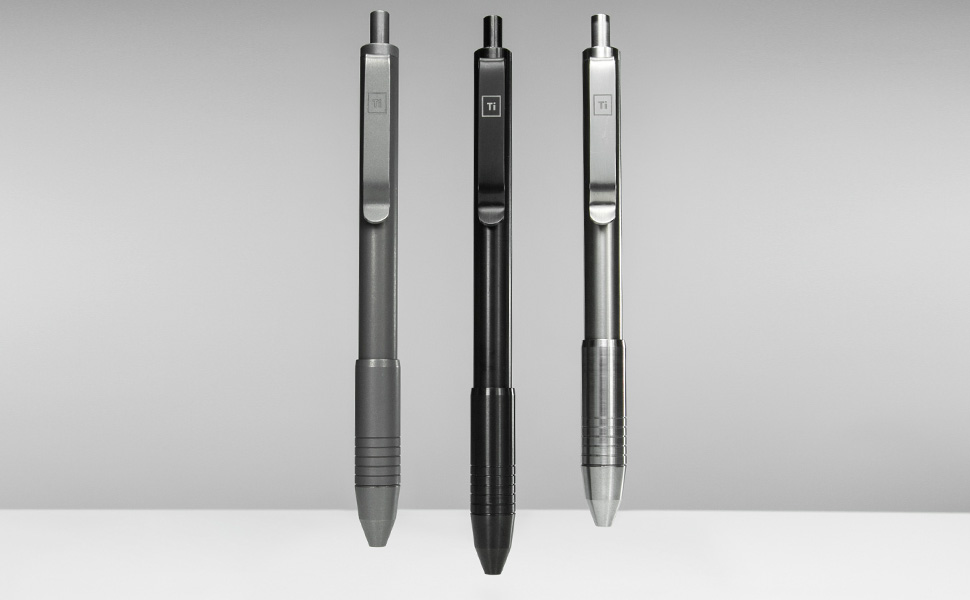 Ti Click EDC Pens, Titanium Pen, Metal Click Pen, Ti Pen, Best Pen, Nice Pen, EDC Pen