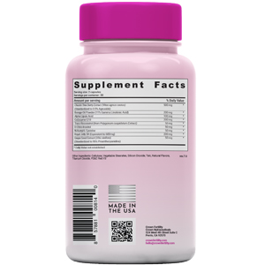 supplement facts and ingredients section of ULTRA HERS fertility supplement bottle
