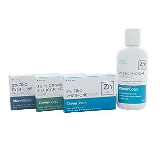 Jabón de piritiona de zinc al 2%, piritiona de zinc, jabón inteligente, barra de jabón de zinc, champú, ácido salicílico