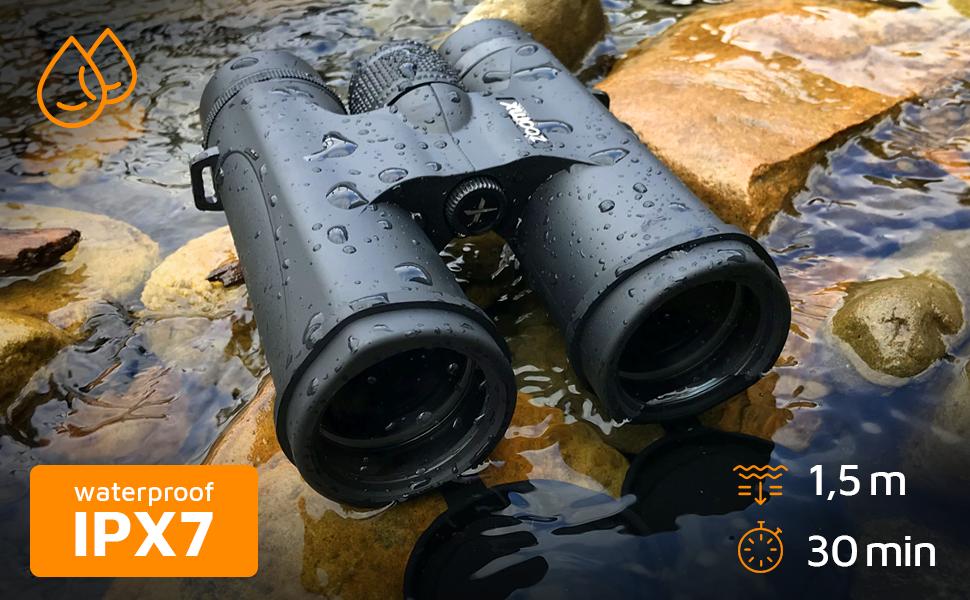 Waterproof binoculars 10x42. Waterproof binoculars for adults IPX7 binocular for smartphone Stellax