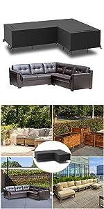 L shape sofa cover