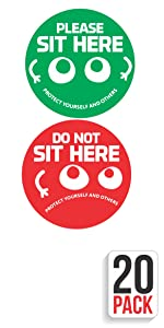 do not sit here sit here sticker