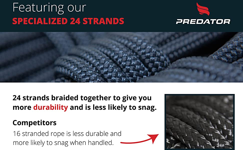 specialized 24 braided strands more durability rope 16 stranded