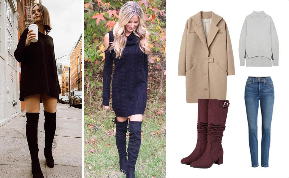 Women's fashion knee high boots