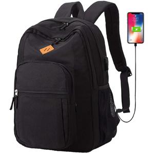 black backpack for school lightweight bookbag for boys Causal Travel Canvas Rucksack Backpacks