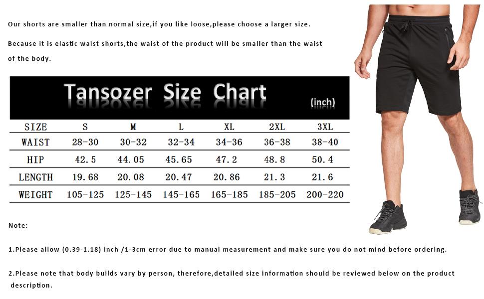 Tansozer Size Chart