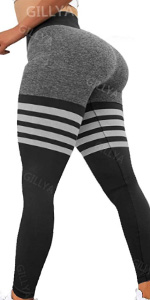 High waisted Seamless Workout Leggings lift striped Leggings seamless tigh heigh striped leggings