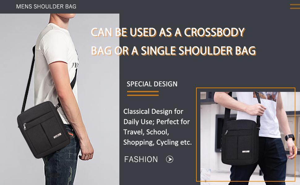 Color : Black DQMSB Travel Handbag Cross Section Mens Bag Briefcase Mens Messenger Bag Shoulder Bag