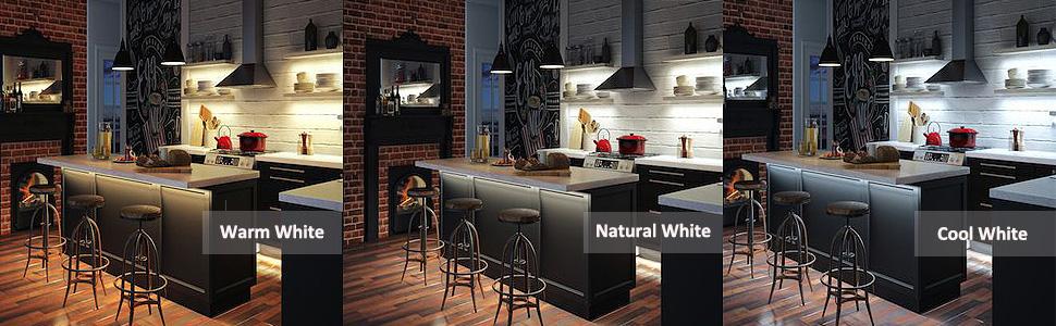 12V LED Strip Light Cool White for Kitchen