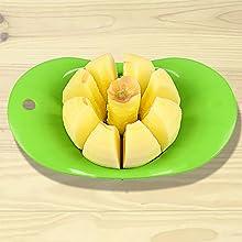 slice and remove the core
