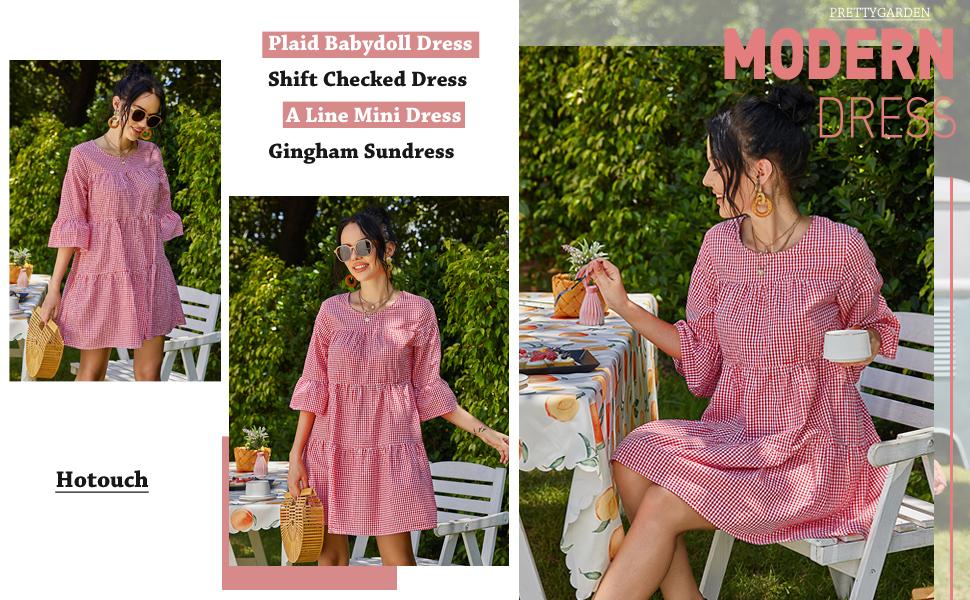 plaid short dresses