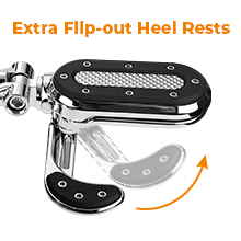 extra flip-out heel rests