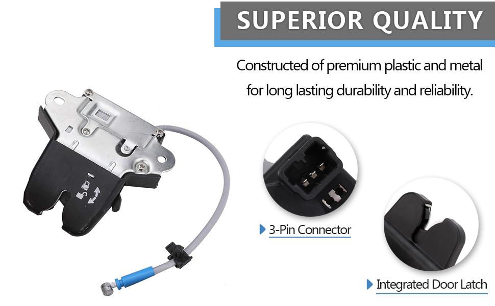 A-Premium Tailgate Trunk Latch Lock Actuator Compatible with Hyundai Sonata 2015-2017 Rear Trunk