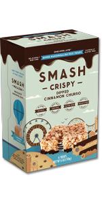 smashcrispy chocolate marshmallow rice crispy treats cinnamon churro sweet fun snack