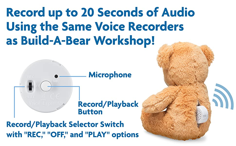 Pillows Plush and More 2 Pack of Voice Express Voice Recorders for Dolls