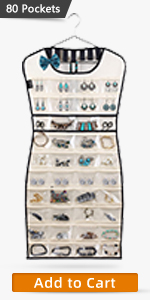 80 pockets jewelry organizer