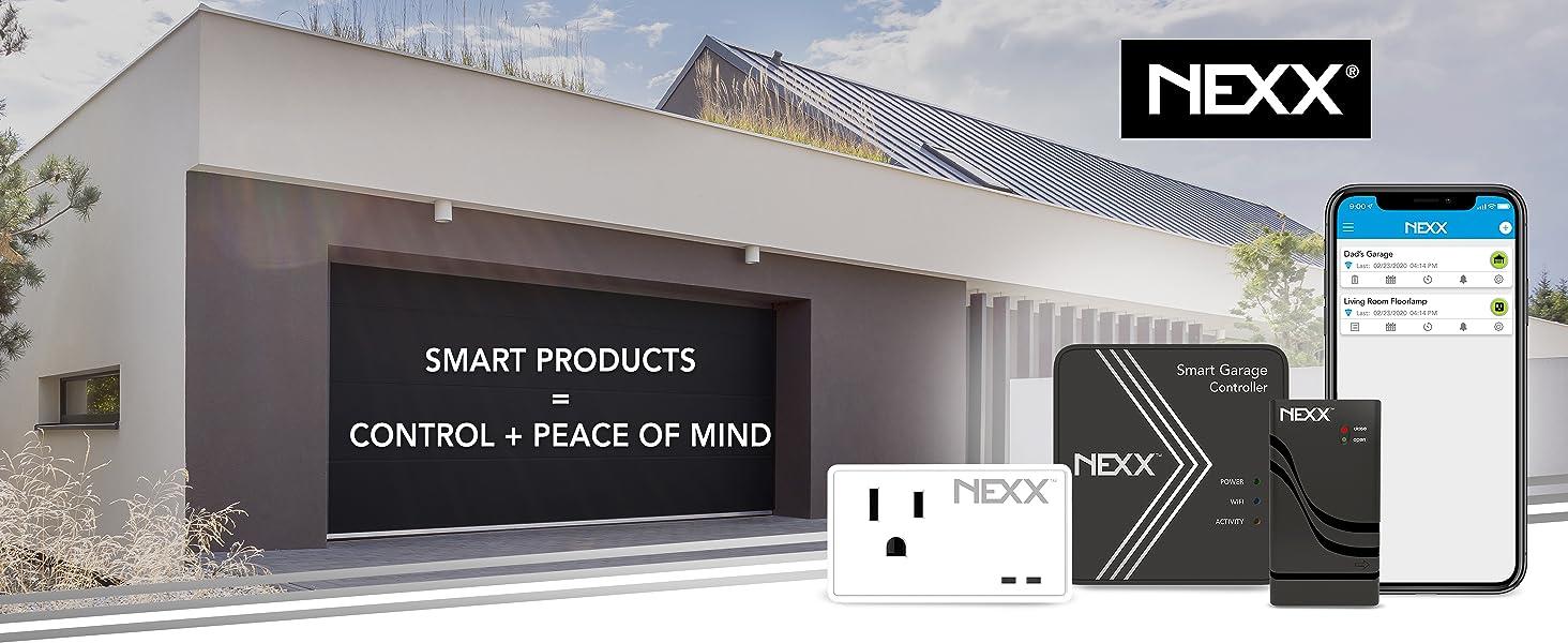 nexx smart garage plug wifi home automation app wireless sensor nxg200 nxpg200 control switch next