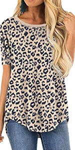 leopard printed shirts tops