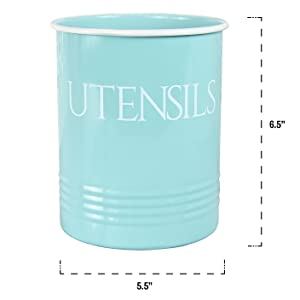 kitchen decorations kitchen utensils holder farmhouse utensil caddy blue mint teal turquoise
