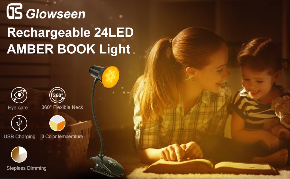Amber book light