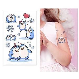 SZSMART Tatuajes Temporales para Niños Niñas, Dibujos Animados ...