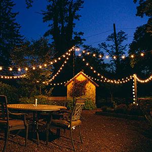 Navidad Bodas 5 Bombillas de Repuesto Fiesta Cadena de Luces G40 36ft Guirnaldas Luminosas Con 30 Bombillas Decoraci/ón Luz Interior y Exterior para Jard/ín