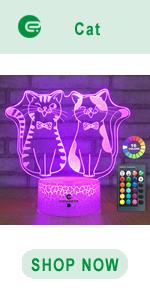 easuntec cat 3d led illusion lamp
