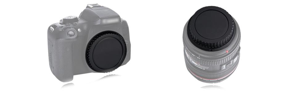 body cap and rear lens cap for canon