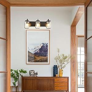 Mason Jar Light Fixture Retro Wall Sconce Farmhouse Hallway Lighting Bathroom Vanity Light
