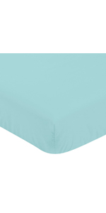 Fitted Crib Sheet for Blue and Green Modern Dinosaur Baby/Toddler Collection Turquoise Blue