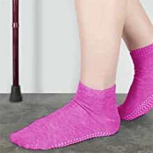 elderly comfortable ankle dotted grip socks yoga pilates ballet barre trampoline friction walk