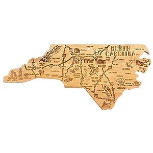 North Carolina shaped cutting board.