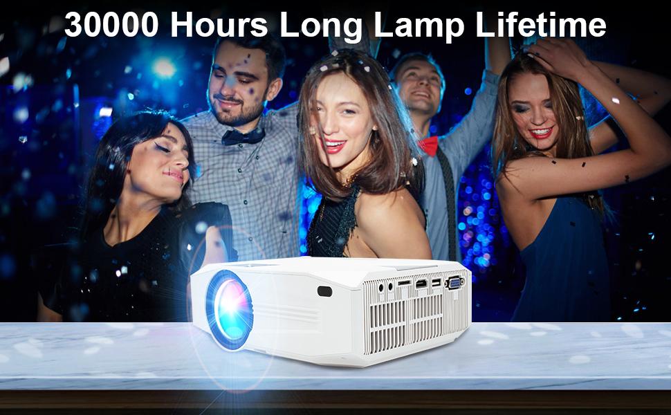 Jimwey Portable LED Projector, 2000 Lumens