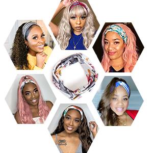 elastic women's headbands