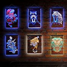 ADVPRO Magical Ambience Chinese dragon Jurrasic dinasour Horse Tiger Lion Wall decoration neon light
