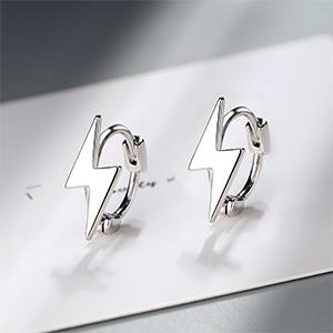 Sterling silver huggie earrings, 2 colors for choose