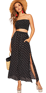 8fbf891fb4846f Floerns Striped T-Shirt Dress · Floerns Polka Dot Crop Top and Skirt Set ·  Floerns Floral Embroidered Peplum Tops Blouse · Floerns Floral High Waist  Midi ...