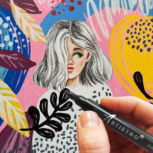 Artistro paint pens acrylic markers for rock painting fabric markers paint pens for glass ceramics
