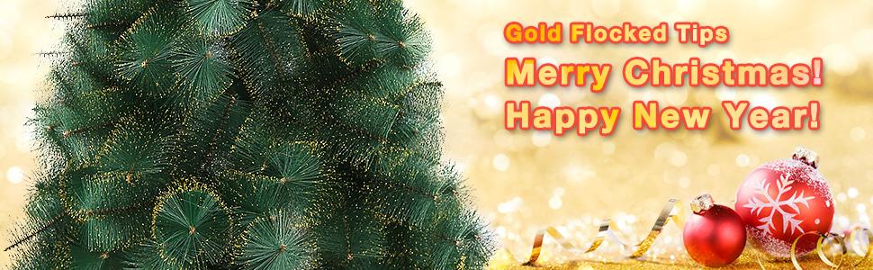 gold xmas tree