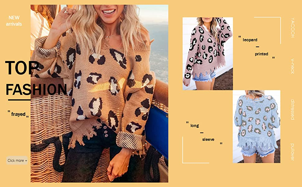 leopard print sweaters for women