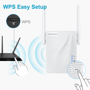 wifi repeater supports WPS button easy installation within seconds