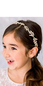 Leaf Wedding Headband for Girls