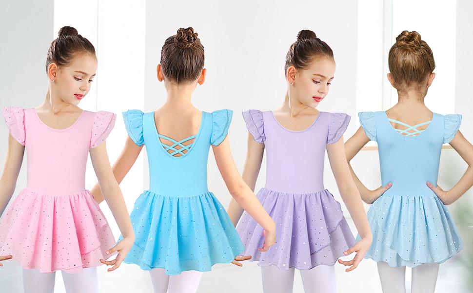 Girl Dance Dress with Tutu Skirt