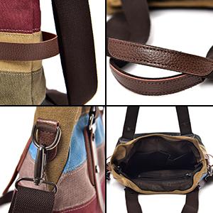 Damen Handtasche, Canvas Tasche Multi-Color Streifen Umhängetasche, Tote Große Kapazität