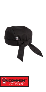chef hat cook bandana beanie cooking classic black white tie comfortable chef works kitchen cook