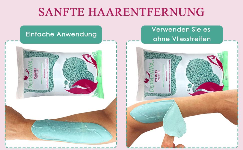 Aloe Vera Hartwachsperlen Dermawax Logo Waxing
